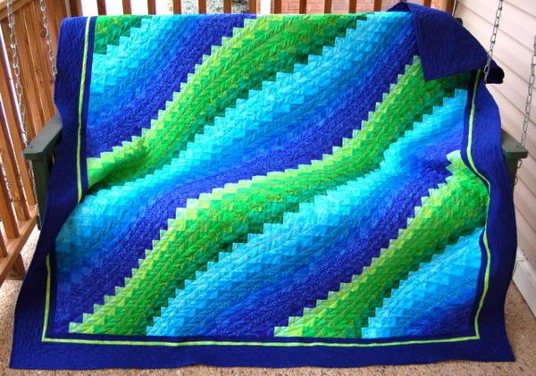 Surf Song from Twist and Turn Bargello Quilts Eileen Wright