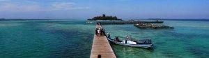 Pemandangan Pulau Tidung ini sangat indah dengan nuansa Pantai yang dalam terlihat berwarna biru dan yang dangkal berwarna hijau muda yaitu Pantai cemara, pantai dengan air lautnya yang berwarna biru jernih, Cukup serasi dengan hamparan pasir pantai yang putih.