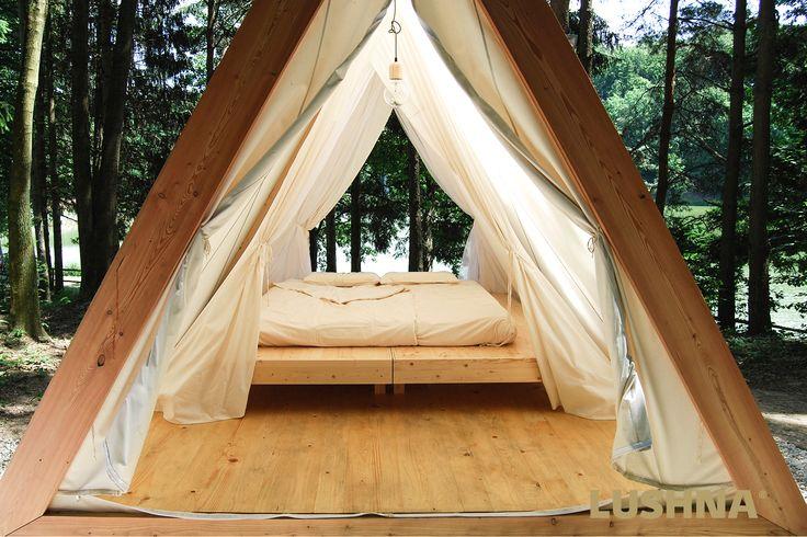 panoramic bedroom #glamping
