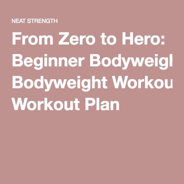 From Zero to Hero: Beginner Bodyweight Workout Plan
