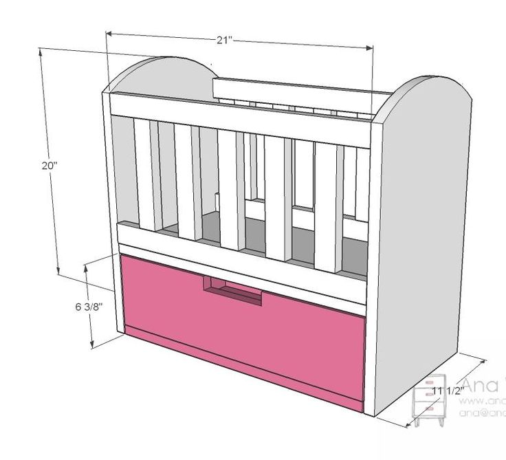 Olivia's Doll Crib, the nex project for Bella's Bitty Baby