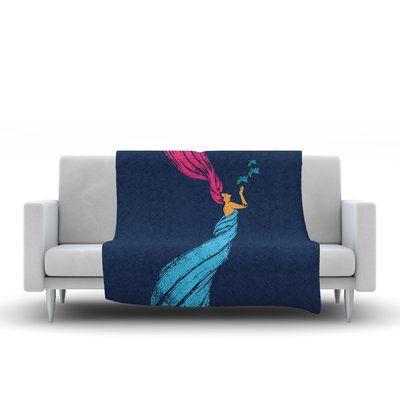 "East Urban Home Peace Fleece Throw Blanket Size: 60"" L x 50"" W"