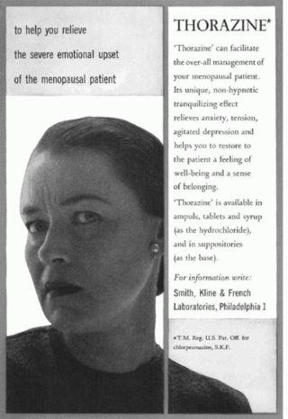 Ads--thorazine for menopause!