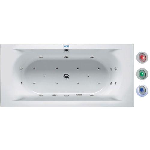 Riho Easypool Lima whirlpoolbad 190x90cm elektronisch met kleurentherapie wit glans - BB48005584Q0050 - Sanitairwinkel.be