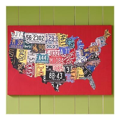 Bucket List: Visit all 50 statesKids Room, Canvas Wall Art, License Plates, Usa Maps, Licen Plates, Boys Room, Plates Maps, Plates Usa, Art Wall