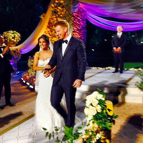 Jef Holm tweeted a photo of Sean Lowe and Catherine Giudici walking down the aisle at their wedding.
