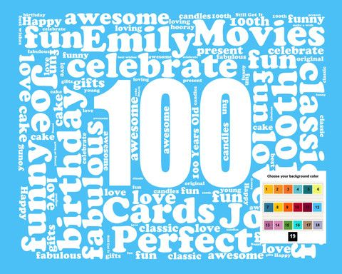 37 best 100th birthday gifts images on pinterest party gifts personalized 100th birthday gift word art 100th birthday one hundred birthday 8 x 10 negle Gallery