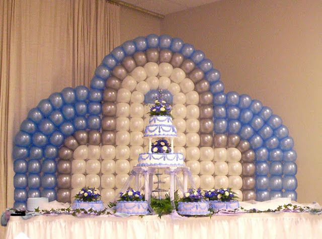 Blue and purple decorations wedding buffet ideas using