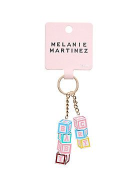 Don't try to explain, just put your keys on this key chain // Melanie Martinez Cry Baby Blocks Key Chain