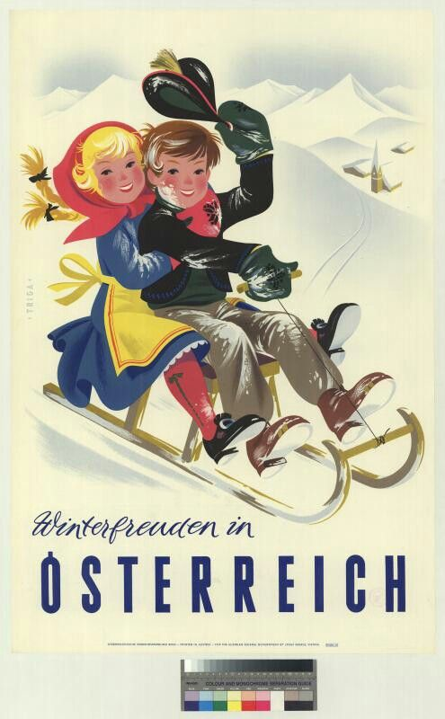 Austria Travel Poster 1950s