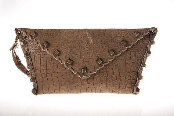 tan leather purse bag by ElenLovelyCollection on Etsy, €80.00