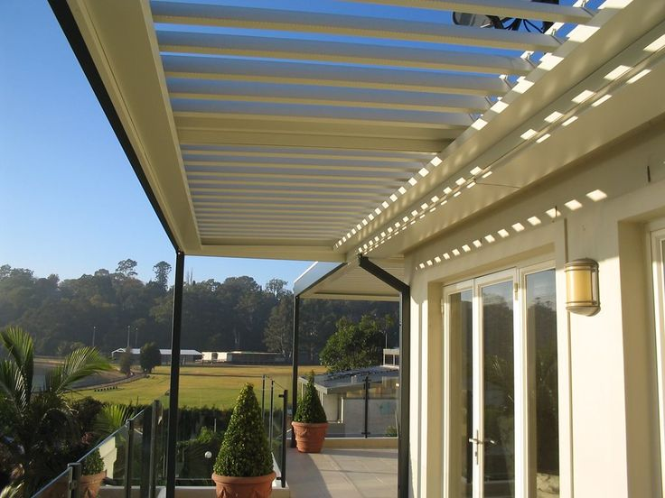 Stylish Opening and Closing Louvered Pergolas by Vergola   Architecture And…