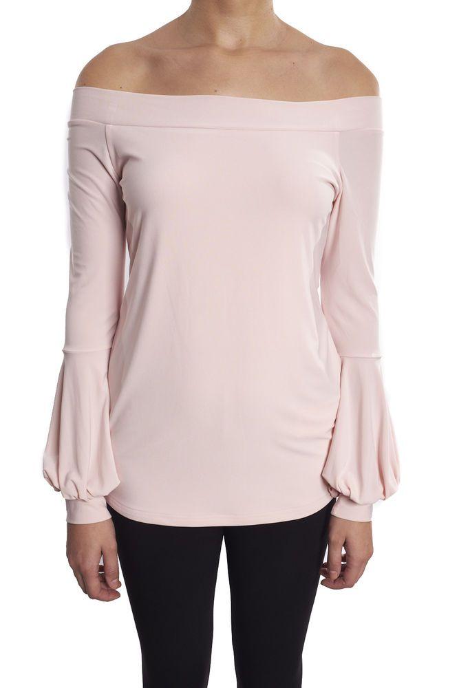25b4b70e446 Joseph Ribkoff Powder Pink Off The Shoulder Women's Tunic Top New Season  181062 #JohnnyWas #Blouse #Casual