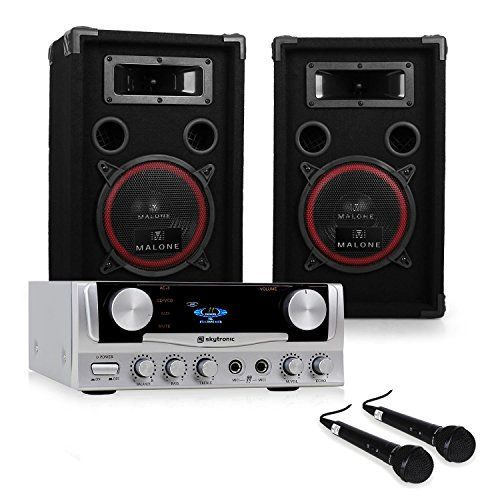 nice DJ EASY Equipo de sonido profesional 400W Altavoces y amplficador