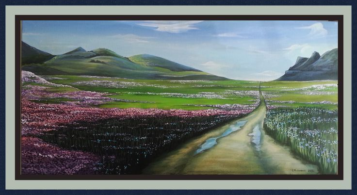 Namaqualand Flower Route, Casey Richards, 18 December 2015,  100 x 50 cm, Acrylic Painting,
