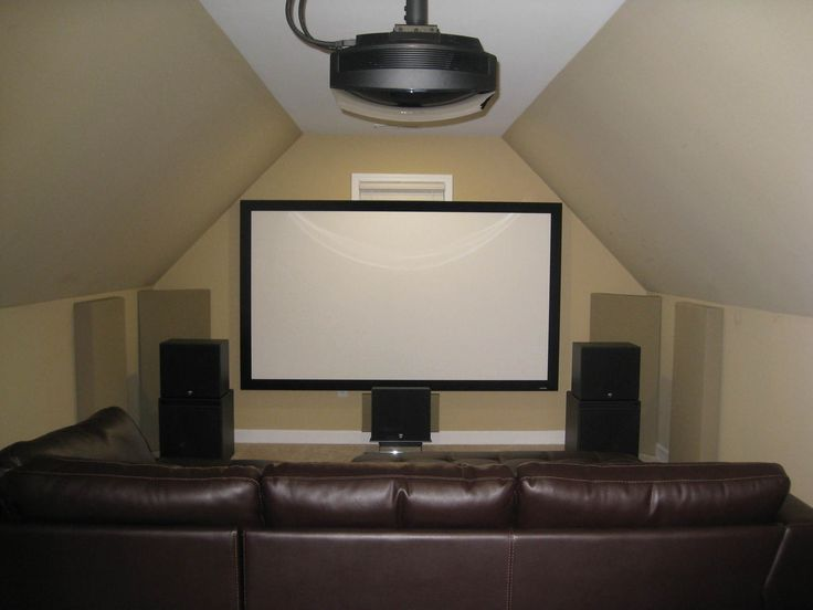 Home Theater Gallery - attic man cave