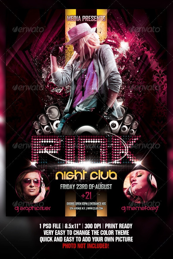 night club concert party flyer poster template flyer poster
