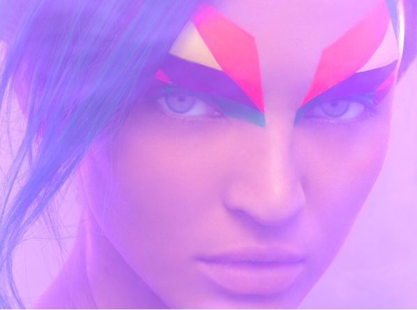 amazing geometric makeup!