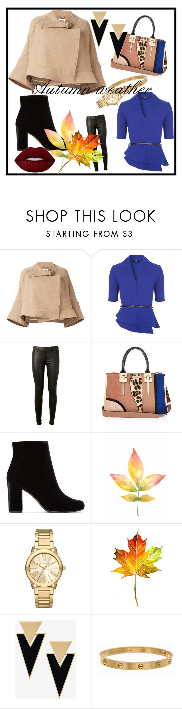 """Untitled #215"" by frupapp on Polyvore featuring Chloé, AG Adriano Goldschmied, River Island, Yves Saint Laurent, Michael Kors, Cartier and Lime Crime"