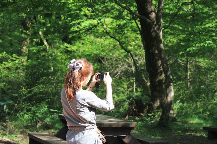 사려니숲  소녀