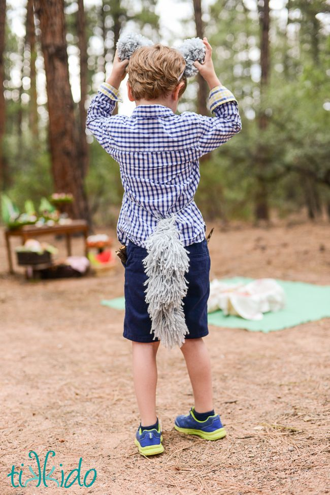 Easy Yarn Wolf Or Dog Tail Costume Tutorial Tikkido All Things From Costumes