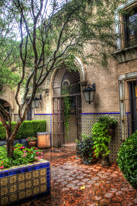 Tlaquepaque Shopping Village - Sedona  Arizona by Jon Berghoff