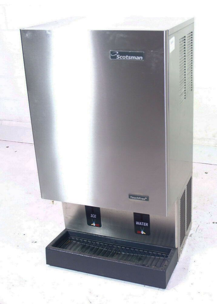 Ebay Sponsored Used Scotsman Mdt5n40a 1 523lb Nugget Ice Maker Water Dispenser Air Cooled Nugget Ice Maker Water Dispenser Scotsman