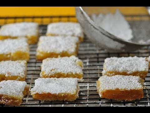 Lemon bars are always a huge hit. Cut them into small triangle to add to your dessert platter. Here is a great video for a simple recipe.