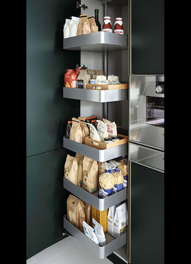 Küche, Schrank, Hochschrank, Apothekerschrank, Küchenschrank, Ordnung, hoher Schrank, Küche, Idee, Bild, Inspiration; Foto: next125