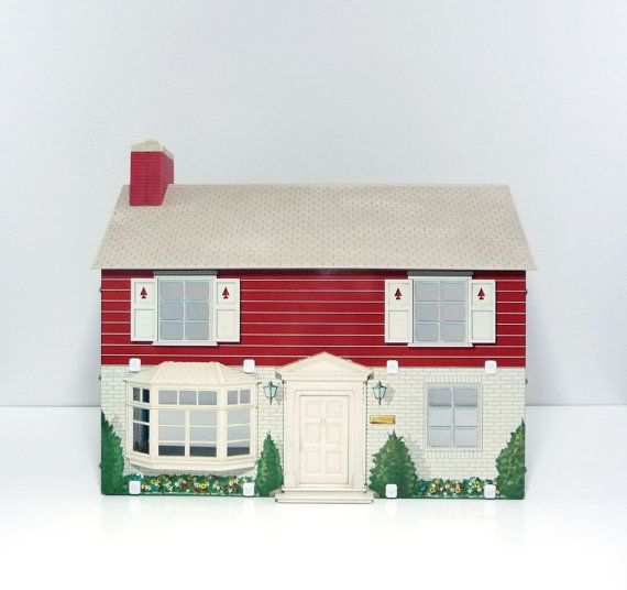 1974 Marx Toys Quaker Oats tin dollhouse with by reconstitutions #marx #dollhouse