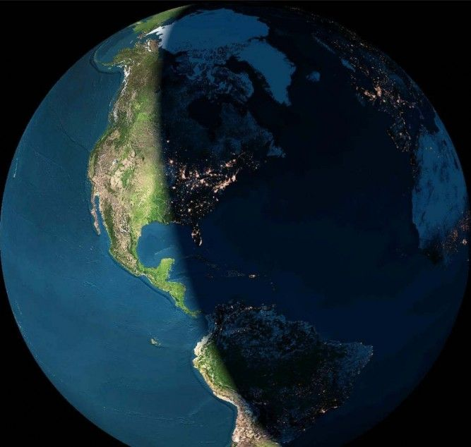 52 best earth images on pinterest world maps desktop backgrounds the world day and night from space the exact view is 147354066 km above gumiabroncs Gallery