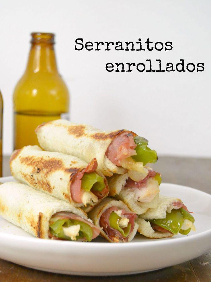 Estos serrranitos enrollados son una idea diferente de preparar el tradicional Serranito tan típico de Andalucía. ¡No os los perdáis!