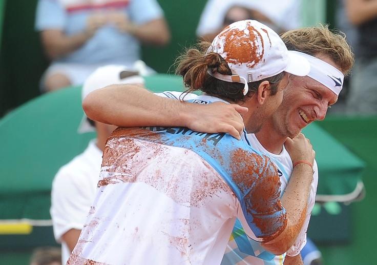 doblistas: David Nalbandian y Zeballos.Copa Davis. Argentina 5 Alemania 0