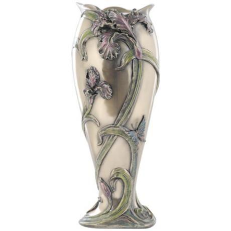 Iris Cast Bronze Vase - #Y6639 | LampsPlus.com