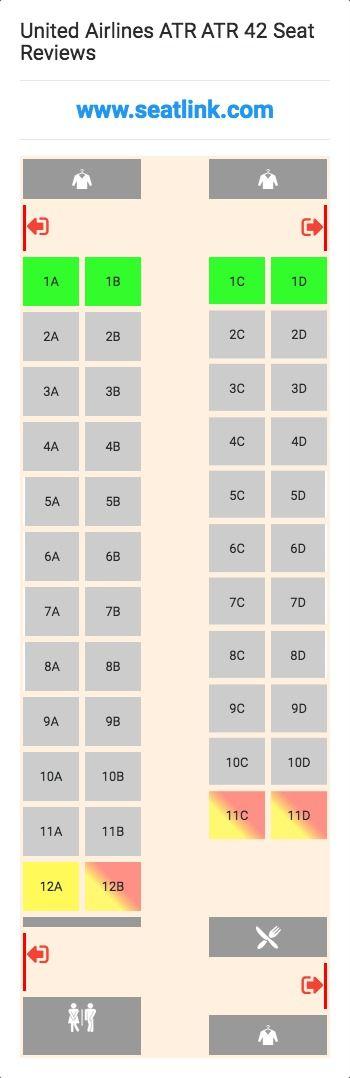 United Airlines ATR ATR 42 (ATR) Seat Map
