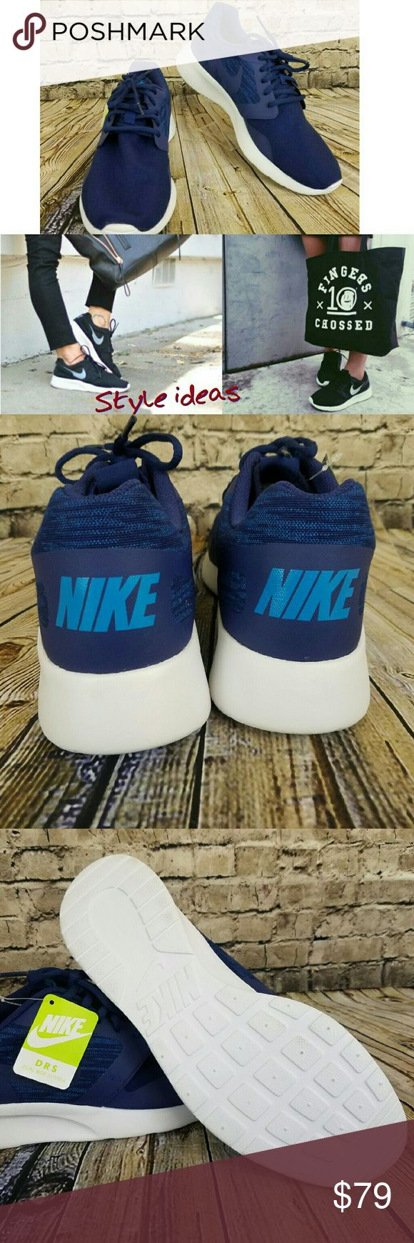 Nike Kaishi Navy Blue Soft Canvas Men's 9.5= women's 11 Brand new, never been worn, tags on  Influenced by the Nike Roshe One, the Nike Kaishi Run Men's Shoe is designed with a lightweight mesh and suede upper for breathable comfort and streamlined style. An IU unitsole is durable enough to double as an outsole for minimal bulk. Nike Shoes Athletic Shoes