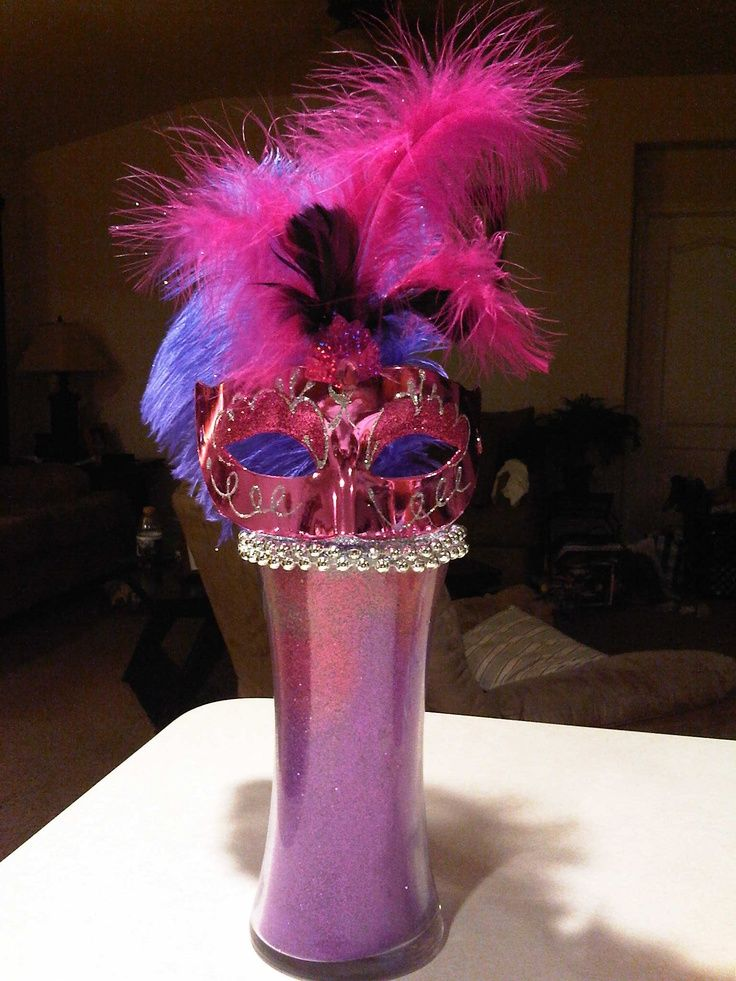 25 best ideas about masquerade centerpieces on pinterest for Ball decoration ideas