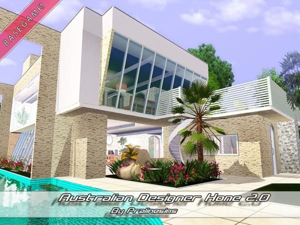 Australian Designer Home 2.0 By Pralinesims   Sims 3 Downloads CC Caboodle