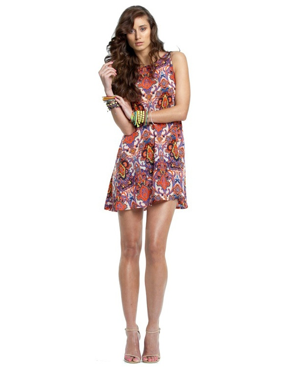 Josie Harmony Dress - Dresses - Clothing - Pair it with strappy heels and a leather satchel for a lazy lunch with friends!: The Dress, Paisley Print
