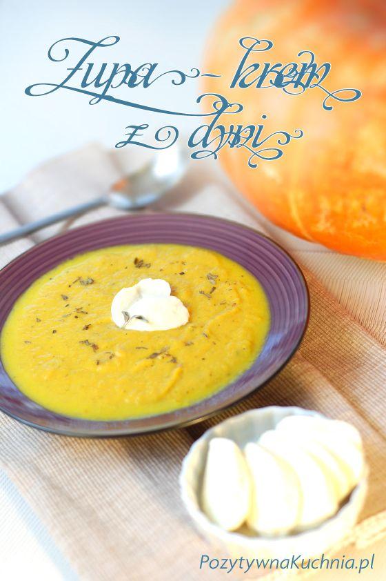 Zupa z dyni, podstawowy przepis, z dodatkiem ziemniaków, kremowa, prosta do ugotowania i pyszna!  http://pozytywnakuchnia.pl/zupa-z-dyni/  #dynia #zupa #kuchnia #przepis #obiad