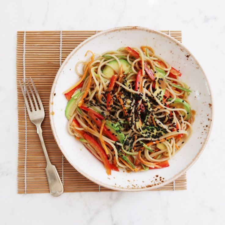 Soba Noodles with Lime and Miso Dressing