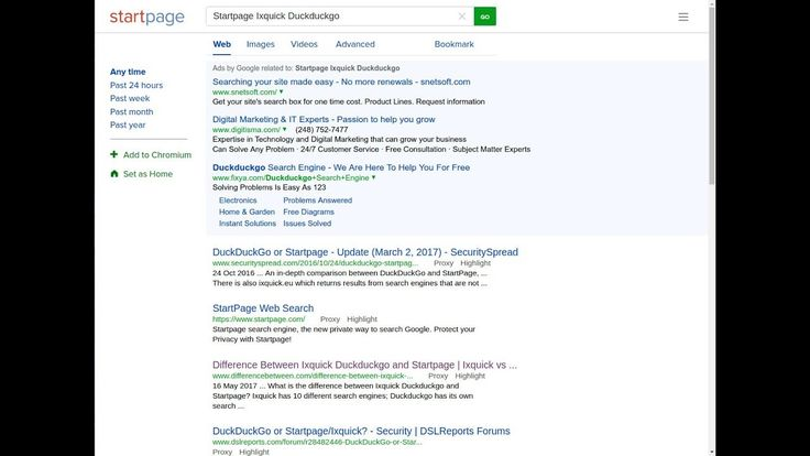 The best way to Search online safe and secure - Startpage, IxQuick or Du...