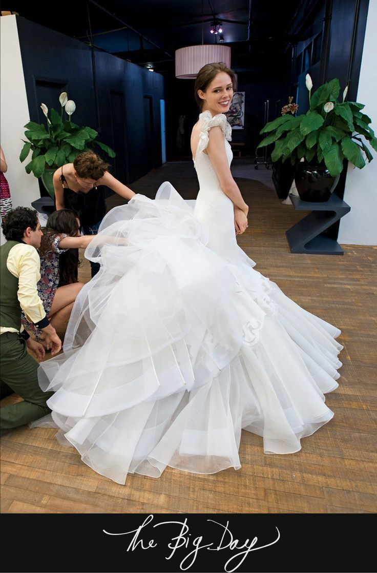 25 best zac posen bridal images on pinterest wedding for Zac posen short wedding dress