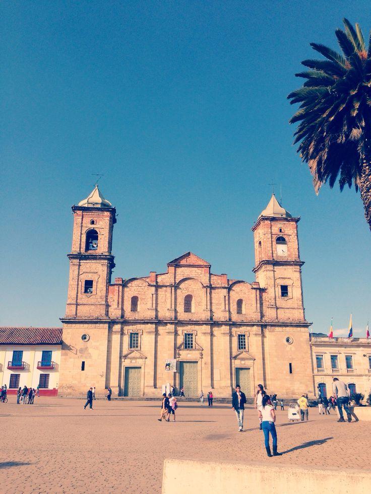 Plaza principal de Zipaquira, Colombia.