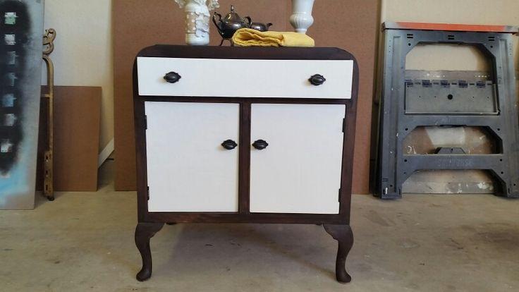 Vintage cabinet redo after