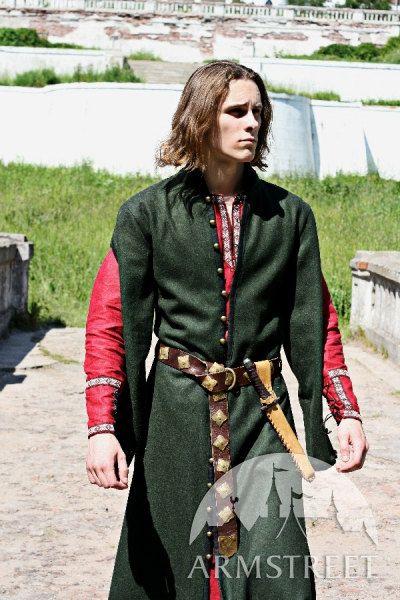 Wool Medieval Men's Coat with Hood. $216.00, via Etsy.