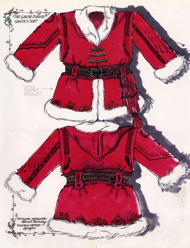 Tim Allen's Santa Clause Suit sketch