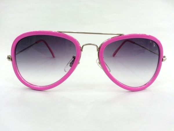 Aviator Medium Pink Metal Sunglasses