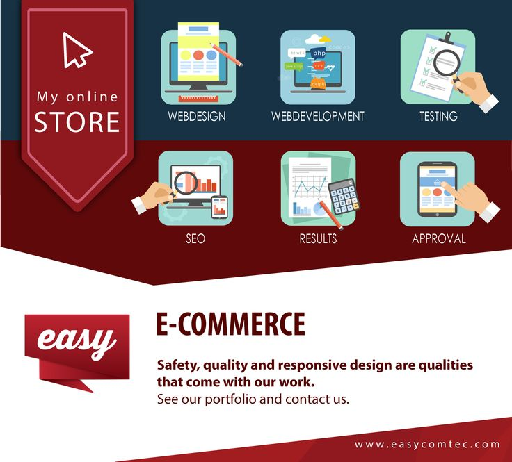 E-commerce . Safety, quality and responsive design are qualities that come with our work.