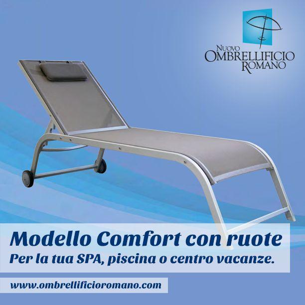 """Un comodo lettino con le ruote per la tua SPA, il tuo centro vacanza o la tua piscina? Eccolo! Si chiama """"Comfort"""", ed è disponibile sul nostro sito internet: http://goo.gl/x5hPfq"""